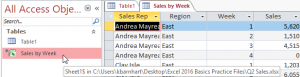 Connecting to Excel with Acess - Navigation Pane