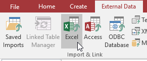Connect to Excel in Access - Database