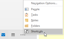 Mailbox Shortcuts in Outlook - Select