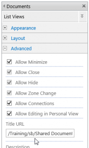 Change Web part Link - dropdown menu