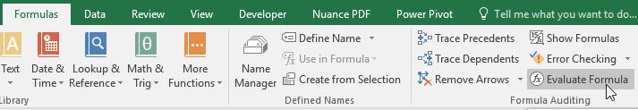 Evaluate Formulas in Excel - Evaluate Command