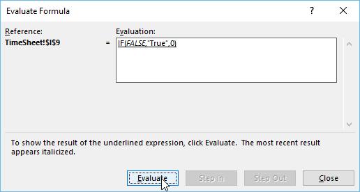 Evaluating Formulas in Exceln- Next formula