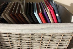 Worksbook in a basket