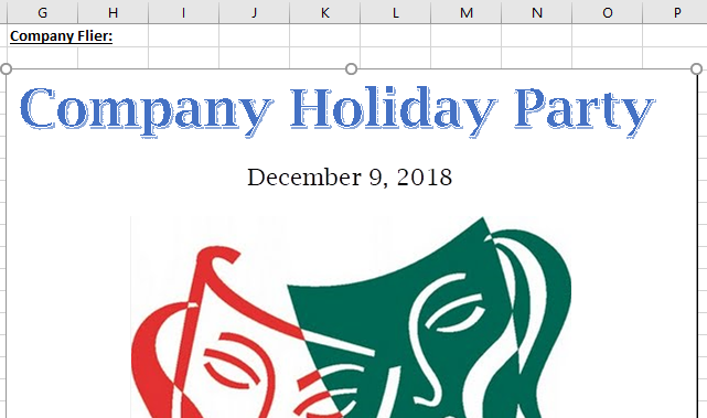 Embedding Documents in Excel - Holiday Fliwer